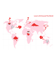 Love is all around the world and people vector