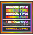 Set of rainbow decorative graphic styles for vector
