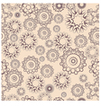 Repeating pattern of lacy flowers on a beige vector