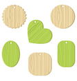 Tag with a wooden texture vector