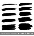 Set of hand drawn grunge brush smears vector