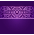 Vintage invitation card on purple background with vector