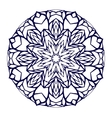 Round kaleidoscopic lace mandala background vector