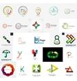 Set of branding company logo elements vector