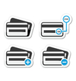 Credit card cvv code icons as labels set vector