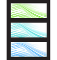 Abstract background banner in three color vector