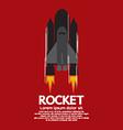 Single rocket fire engine vector