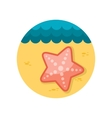 Starfishe flat icon with long shadow vector
