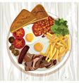 English breakfast vector