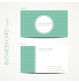 Doodle creative simple business card template with vector
