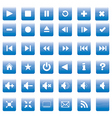 Square media buttons vector