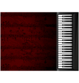 Musical background with piano vector