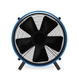 Electric fan in front of white background vector