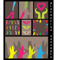 Love help protection concept vector