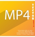 Mpeg4 video format icon symbol flat modern web vector