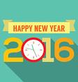 2016 greeting card flat design vector