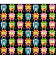 Cartoon monsters background vector