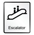 Escalator information sign vector