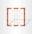 Brown cage grid design element vector
