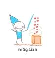 Magician vector