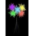 Eps10 flower design against dark background vector