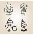 Cartoon character happy people vector