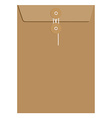 Brown sealed envelope vector