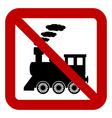 No locomotive sign vector