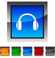 Headphones icons vector