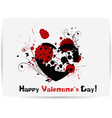 Gothic valentines day card vector