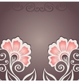 Colored floral background vector