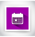 Icon of calendar for web and mobile applications vector