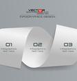 3d white paper infographics design vector