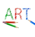 Art word drawn with pencils vector