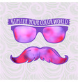 Retro hipster glasses lifestyle vector
