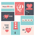 Set valentine cards vector