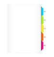 Colorful numbered bookmarks vector