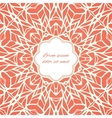 Mosaic ornamental lace frame abstract background vector