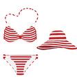 Summer hat and bikini vector