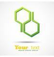 Honeycomb design element background vector