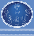 Decorated background with angels singing christmas vector