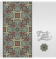 Floral geometric background vintage ornamental vector