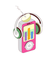 A music player vector