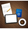 Modern business background vector