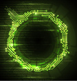 Abstract green technical background vector