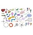 Signs and symbols color set vector