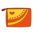 Purse with valentine hearts vector
