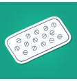 Tablets pills in a blister pack vector