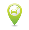 Car parking icon on green pointer vector