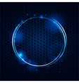 Abstract mesh and glowing circle background vector